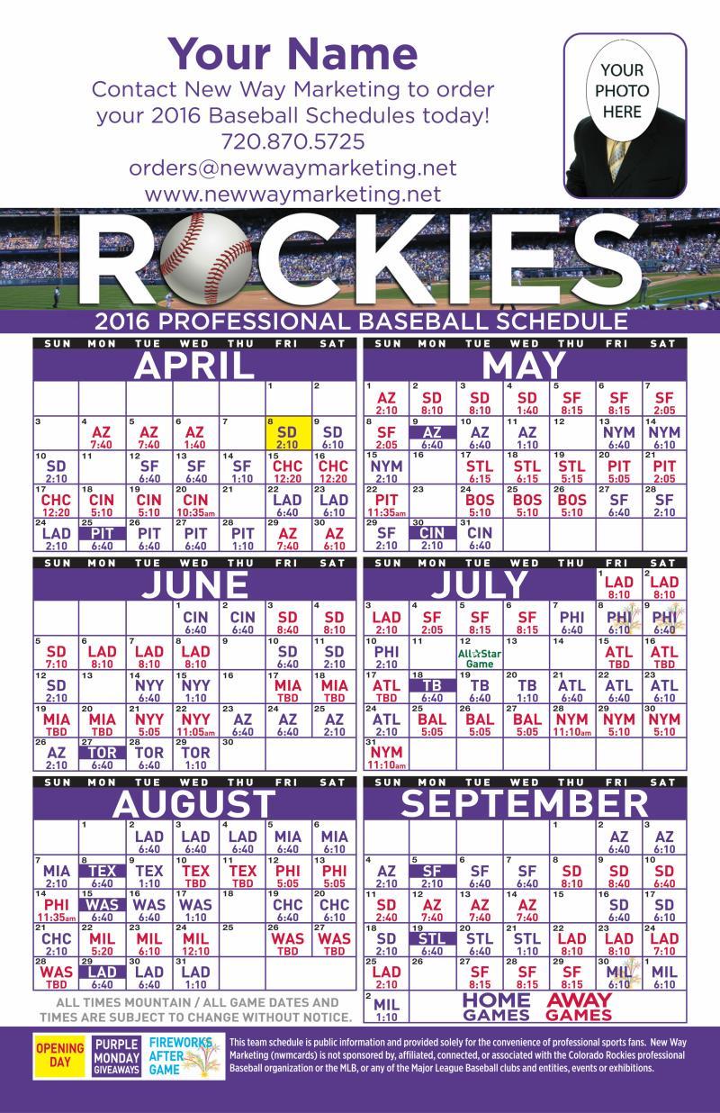 800 x 1236 jpeg 232kB, Postcards   2016 Professional Baseball Schedule