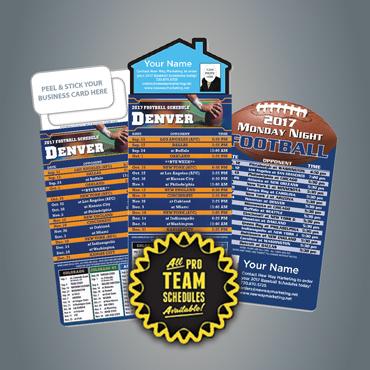 2018 professional football schedules postcards magnets new way magnets and more colourmoves