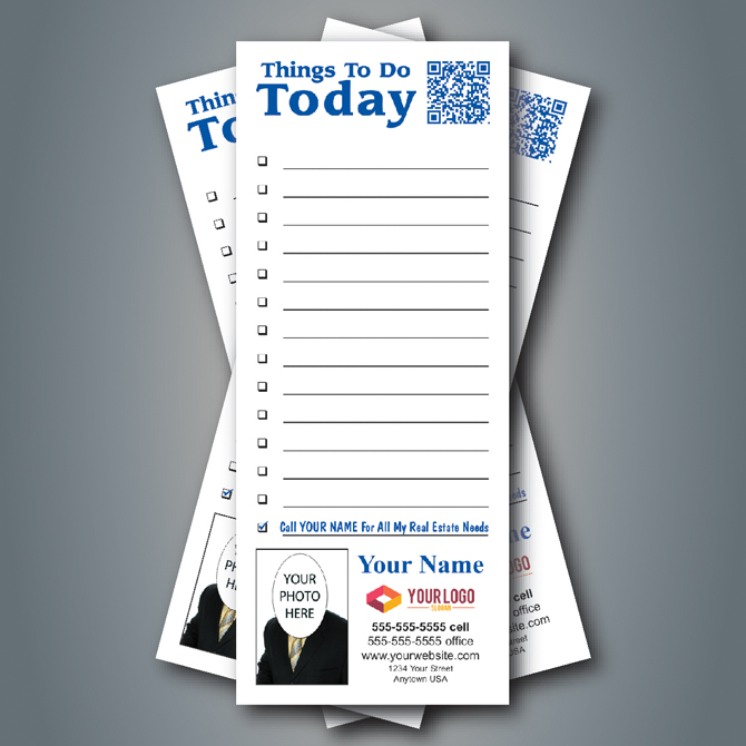 Notepad 56 Things To Do Today With Qr Code Change Blue Color At No Charge