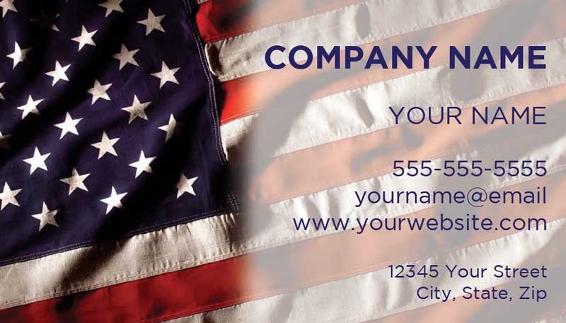 Patriotic american flag stars and stripes america the business card template patriotic 53 fonts text color text size and reheart Images