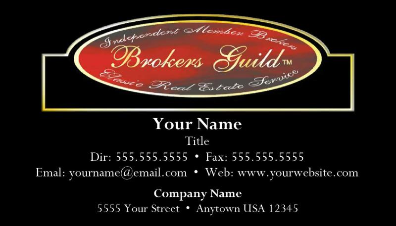 Brokers Guild Business Card Template Bg02