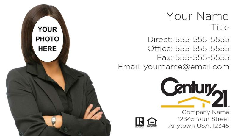 Century 21 real estate century 21 century 21 real estate agency century 21 business card template c05 additional charge for photo silhouette editing if needed wajeb