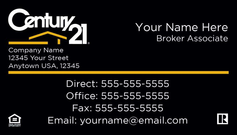 CENTURY Real Estate CENTURY CENTURY Real Estate Agency - Century 21 business cards template