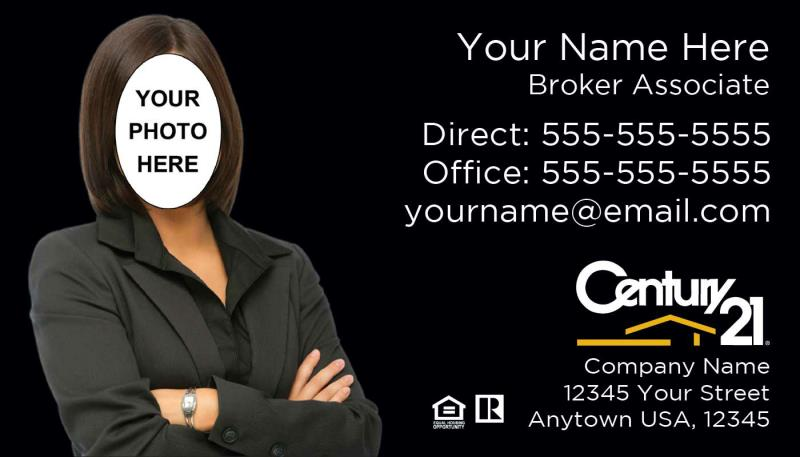 Century 21 real estate century 21 century 21 real estate agency century 21 business card template c08 additional charge for photo silhouette editing if needed fbccfo Image collections