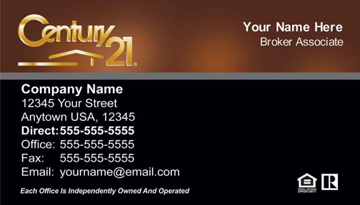New Way Marketing Full Color Business Cards Century 21