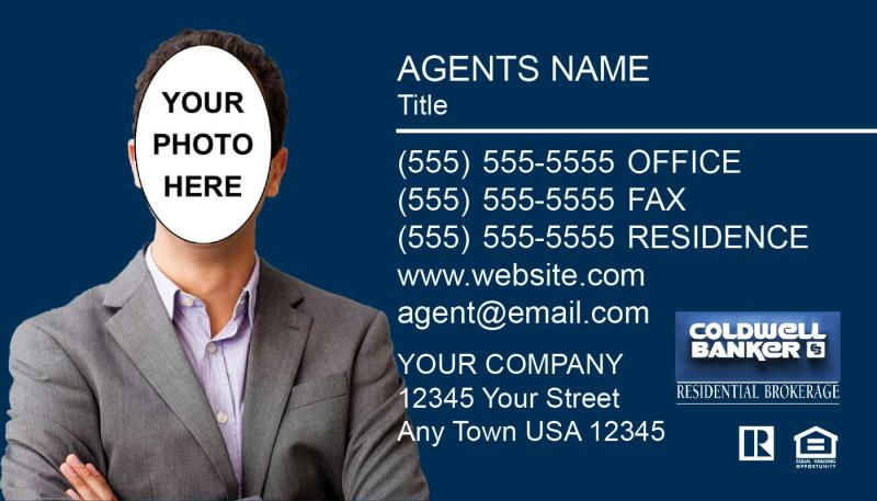 Coldwell banker business cards coldwell banker real estate agents coldwell banker business card template cb06 additional charge for photo silhouette editing fbccfo Image collections