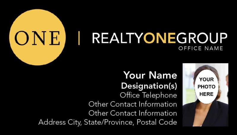 Realty One Group Business Card Template Rog 01