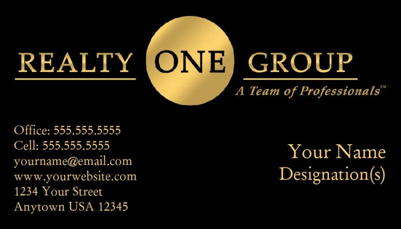 Realty One Group Business Card Template Rog 08