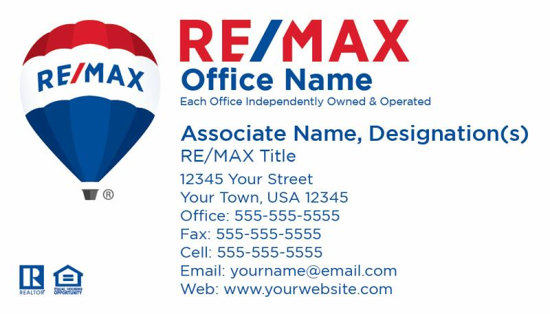 re max business cards re max alliance re max professionals