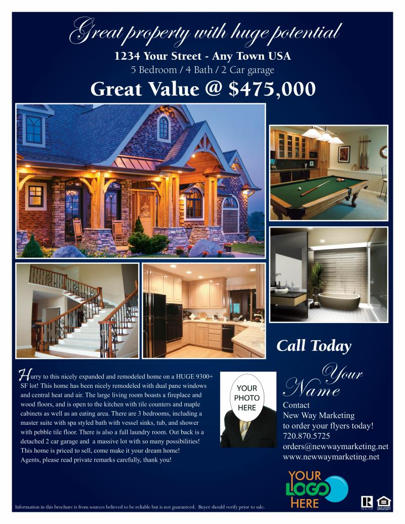 door hanger design real estate. 8½ X 11 - Real Estate Flyers Door Hanger Design