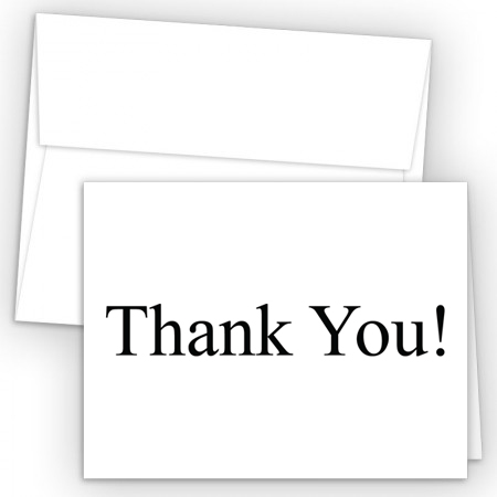 thank you card 1 color of thank you can be changed to match - Real Estate Thank You Notes Card
