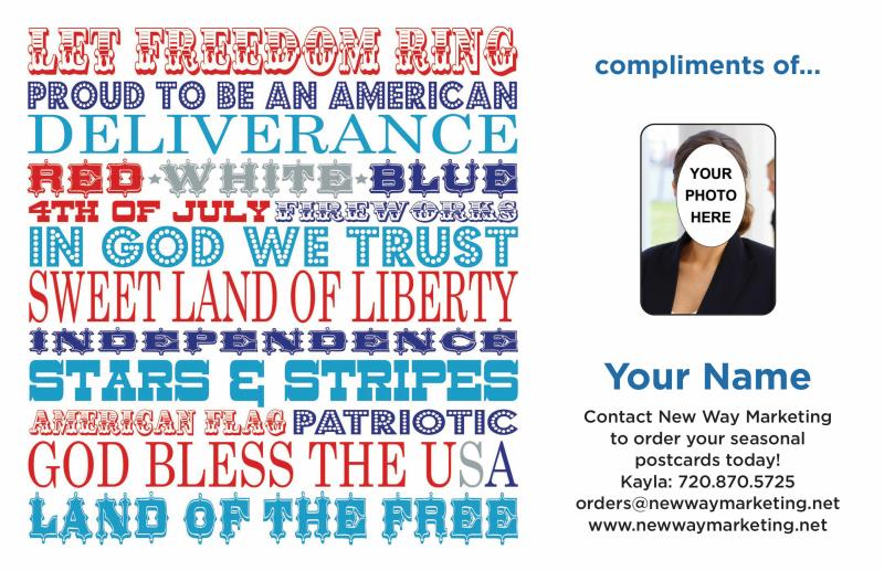 4th Of July Fireworks Postcards Direct Mail Postcard