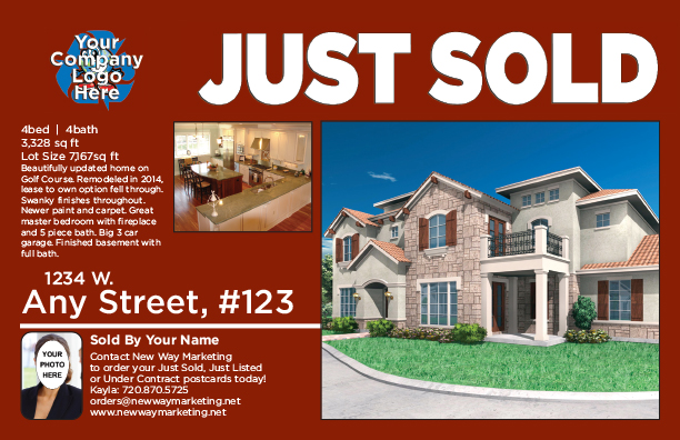 real estate just sold flyer templates - just sold postcard verbiage arts arts