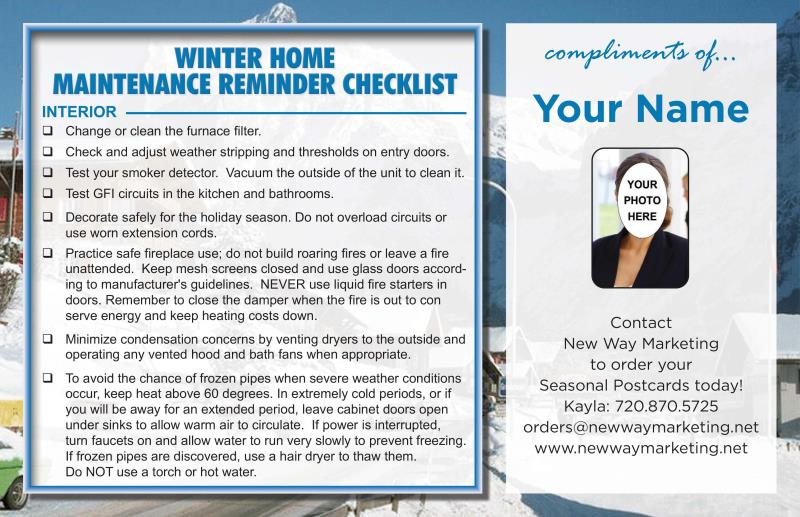 Home Maintenance Amp Safety Postcards Helpful Home And