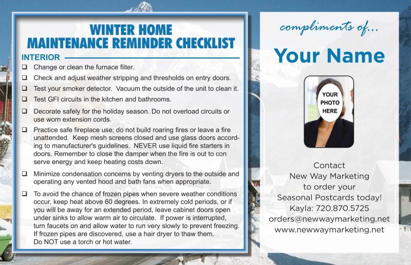 Seasonal Home Maintenance Checklist Free Printable