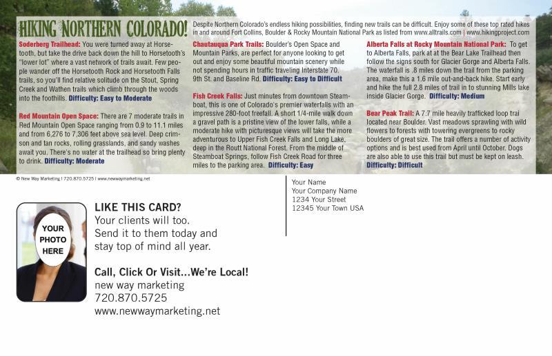 Outdoor Colorado Postcards | Direct Mail Postcard Design