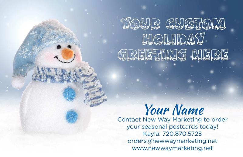 Winter holiday season greetings postcards seasonal postcards holiday season greetings text on front of card can be m4hsunfo