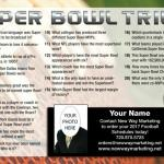"2018 Super Bowl Trivia FRONT  This postcard design is NOT AVAILABLE in a 4""x6"" Layout"