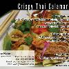 "#172 - Crispy Thai Calamari Salad - FRONT  Offered as Jumbo 8½"" x 5½"" ONLY"