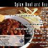 "#93 - Spicy Beef and Bean Chili Back of postcard is standard Recipe Back  Offered as Jumbo 8½"" x 5½"" ONLY"