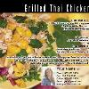 "#76 - Grilled Thai Chicken Back of postcard is standard Recipe Back  Offered as Jumbo 8½"" x 5½"" ONLY"